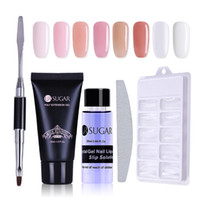 Poly Gel Set 30ml Quick Building Finger Extension Crystal UV LED Jelly Acrylic Builder Gel Nail Art Brush Tools Kit
