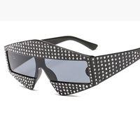 패션쇼 쇼 광장 G 선글라스 400 조각 빛나는 모조 다이아몬드 프레임 남성 여성 브랜드 안경 디자이너 패션 차양 L163