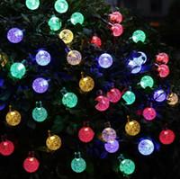 20ft 30 LED Crystal Ball Solar Powered Ledertek Brand Mest populära Globe Fairy Lights för Utomhus Garden Juldekoration