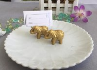 100 PCS Or Lucky Elephant Place Porte-Cartes / Porte Photo WeddingBridal Faveurs De Douche et Cadeau Livraison Gratuite