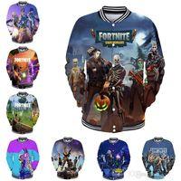 Fortnite Jacken 15 Designs Big Kids Student Mens 3D Print Fortnite Baseball Jacken Frau Herren Outwear Kleidung Y119