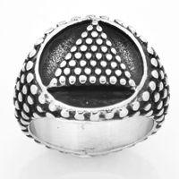 Fanssteel الفولاذ المقاوم للصدأ الشرير خمر رجل أو إمرأة مجوهرات الماسونية دوت تيرانال جولة الدائري ماسوني الدائري FSR14W14