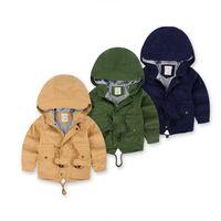 Neue 2016 Frühling Jacke Kinder Kausalen Graben Dünne Jungen Mädchen Mantel Säuglingskleidung Kinder Hoodie Jacke Schneeanzug 3-10Y