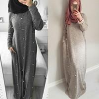 Müslüman Elbise kadınlar İslam giyim abaya dubai başörtüsü elbiseler ropa musulmana mujer
