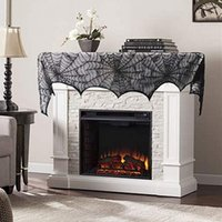 18 *96 inch Rectangular Polyester Lace Fireplace Tablecloth ...