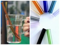 20cm Reusable Straight Glass Heat Resisting Drinking Straw f...