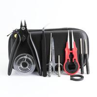 Bobin Baba X6 Basit Vape Tool Kit Çantası Fermuar Vaka Cebi Ecig RDA RTA Için