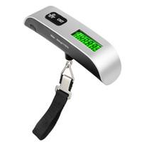 Portable 50KG / 10g Bilancia digitale da viaggio LCD Bilancia da tasca elettronica Appesa Bilancia pesapersone Tenere premuto Tare Spegnimento automatico