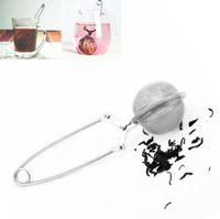 Infusore di tè palla maglia allentata foglia di erbe filtro in acciaio inox palla infusore filtro cucchiaino cucchiaino spremere filtro SN151