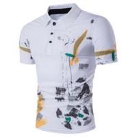 최신 디자인 패션 브랜드 남성 폴로 셔츠 인쇄 짧은 소매 슬림핏 셔츠 남성 뜨거운 판매 폴로 셔츠 캐주얼 폴로 옴므