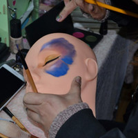 Mannequin de haute qualité à tête plate en silicone Pratique Extensions de faux cils