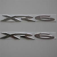2 PCS من مجموعة كروم فضة سيارة PVC XR6 شعار شارة الخلفي الجانب درابزين ملصق شعار الملحقات لفالكون