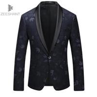 Zeeshant Yeni Marka erkek Slim Fit Business Suit Blazer Ceket erkek Iyi Damat Elbise Blazers Erkek erkek Takım Elbise Ceket XXXXXL