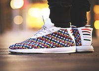 2018 New Sophnet X Luna Lunar Chukka Rainbow Woven Fashion C...