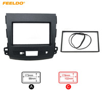 FEELDO Carro Remontando DVD Quadro Quadro Dash Kit Fascia Rádio Quadro De Áudio para MITSUBISHI 08 OUTLANDER # 5082