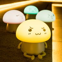 Silicone Cute Mushroom Shape Breathing LED Lamp With 4 Color...