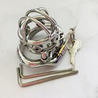 Gabbia di gallo in acciaio inox dispositivo castità dispositivo unico design con viti anti-spillo giocattoli del sesso per gli uomini