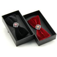 alla moda papillon papillon di diamante per gli uomini maestro nylon farfalla cerimonia nuziale del partito di affari di svago cravatte rosso nero