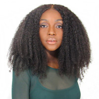 Afro Kinky Curly Lace Front Human Hair Wigs 150% Density Nat...