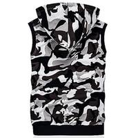 Standard Camouflage Hommes Gilet À Capuche De Mode Nouveau Casual Mince Gilet Hommes Impression Doux Tout Correspondé Gilet Chaleco Hombre Poches