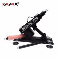IGRARK Sex Machine Feminino Masturbação Pumping Gun com 1 Dildos Anexos Automáticas Máquinas de Sexo para Mulheres Sexo Vibradores D18110607