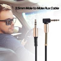 VBESTLIFE Ses Kabloları 3.5mm Male Aux Kablosu L-Şekilli 1 m Geri Çekilebilir Kordon için Araba Ses Hoparlör Kulaklık Bahar Kabloları