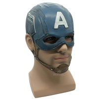 Captain America Mask Realistic Superhero Halloween Mask DC M...