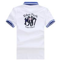 2019 neue Eden Park Sommer Bester Verkauf Kurzer Polo Männer Schöne Qualität Mode Design Homme Polo Beste Stickerei 95% Baumwolle Große Größe M bis 3XL