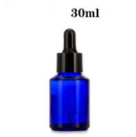 528pcs / lot al por mayor ámbar azul claro vidrio con gotero Viales de 30 ml Esenciales botellas de vidrio aceite cosmético frascos de reactivos de pipeta