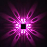 Современный 1 Вт 3 Вт Бабочка LED Настенный Светильник AC 85-265 В Настенный Алюминиевый Бра Дома украшения в помещении Освещение КТВ Партия Бар Свет