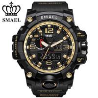 fce6d1e3d4c SMAEL Marca Dual Display Relógios De Pulso militar Relógio De Quartzo De  Alarme Masculino Presente LED