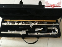 Nieuwe Woodwind Silver Big Bass Flutes Gratis verzending met harde koffer