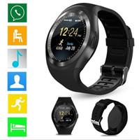 Y1 умные часы для Android SmartWatch сотовый телефон Samsung смотреть Bluetooth для Apple Iphone с розничной упаковке смарт-устройств