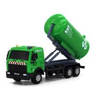 1:43 سباق دراجة متجر شاحنة لعبة سيارة الناقل سيارة شاحنة القمامة دييكاست لعبة المركبات اللعب للأطفال