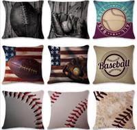 20 قطع البيسبول كرة القدم وسادة القضية القطن الكتان مربع غطاء وسادة أريكة سيارة غرف معيشة وسادة يغطي c215