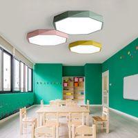 Macaron achteckige LED-Deckenleuchte Einfaches modernes Nordic Innenlampe Schlafzimmerlampe kreatives Raumlicht Kinder