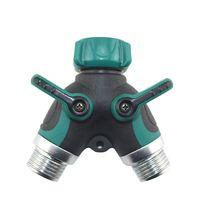 3/4 Zoll Schlauchverbinder Gartenschlauch Splitter 2 Way Gartenwasser Anschlüsse für Rasen, Gartenbewässerung LZ1005