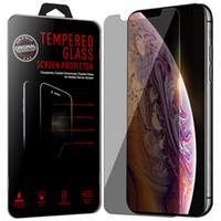 Lucha contra el Spy Protector de pantalla para iPhone XS MAX Samsung J5 2017 templado película del protector 2.5D Privacy Glass para el iPhone XR 7/8 Plus S7 S7 EDGE