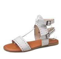 2018 New Hot vente sandales femmes été chaussures décontractées peep-toe chaussures plates sandales romaines sandales bohèmes chaussures femme