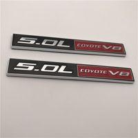Venta caliente de ABS 5.0L V8 COYOTE coche insignia del emblema de la etiqueta engomada del logotipo de Auto ajuste universal para FORD MUSTANG SHELBY