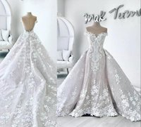 Gorgeous Mermaid Lace Wedding Dresses With Detachable Train ...