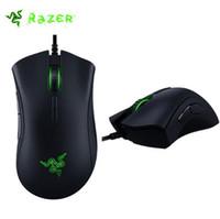 2018 Razer Deathadder Chroma USB Com Fio de Jogos de Computador Óptico Rato Gaming 10000 dpi Rato Do Sensor Óptico Razer Mouse Deathadder Gaming Ratos