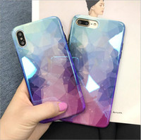 Coque souple brillante couverture mobile rhombique dégradé tpu souple pour iPhone XS Max XR X 8 8P 7 7P 6 6P