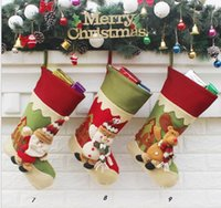 9 стиль мультфильм Санта-Клаус лось снеговик chrsitmas дерево украшения для внутреннего или наружного новый стиль холст подарочная сумка дети рождественские сумки партии