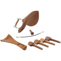 2 Stück (4/4 Violine Kinnhalter Kinnstütze Jujube Holz mit Stimmwirbel Saitenhalter Tailgut Endpin Violine Zubehör Kit)