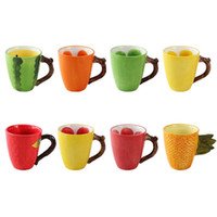 300ml Lot Creative Fruit Coffee Cup Ceramic Fruit Color Juic...