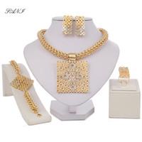 Fani Dubai Gold Color Brand Jewelry Set di gioielli nigeriani Accessori donna matrimonio Big gioielli set moda perline africane set