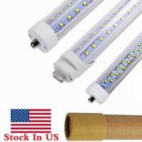Stock en EEUU + V con forma de 8 pies T8 R17D Tubos LED LED Pin simple FA8 8 Pies LED Tubos de luz LED Filas Doble Filas LED Tubo fluorescente AC 85-265V