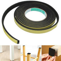 Nuevas tiras de sellado de 3 metros de la puerta de la ventana de espuma adhesiva proyecto Excluder tira cinta de sellado cinta adhesiva de goma tira de tiempo envío gratis
