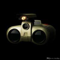 새로운 4x30 쌍안 망원경 팝업 라이트 나이트 비전 범위 쌍안경 참신 어린이 아이 보이 장난감 선물